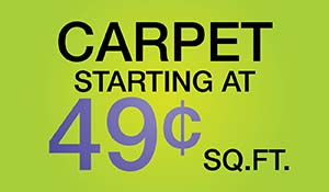 Carpet starting at 49¢ sq.ft. during the Anniversary Sale at Floors To Go Of Monroeville