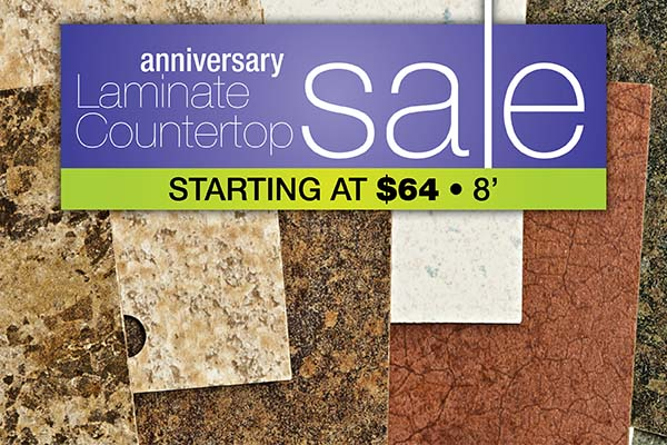 Laminate countertops starting at $64 during the Anniversary Sale at Floors To Go Of Monroeville