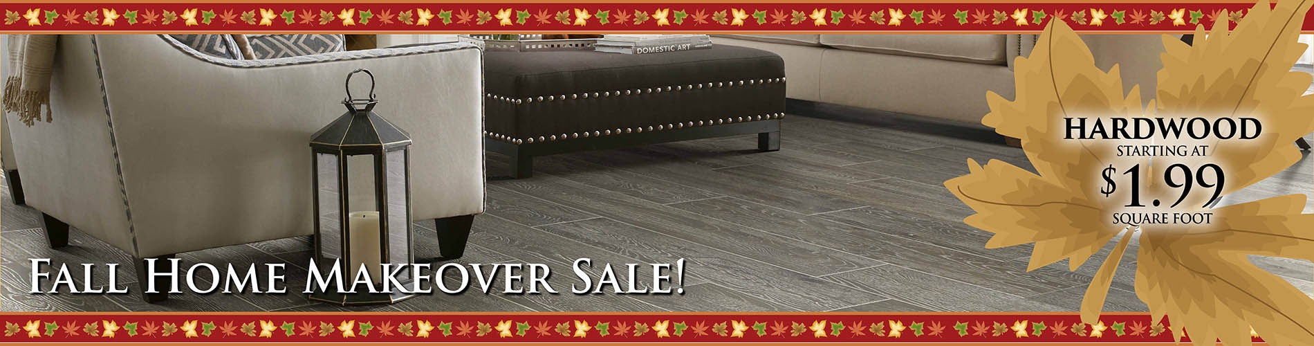 Hardwood starting at $1.99 sq.ft.