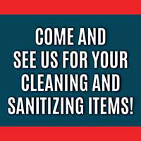 Cleaning & sanitizing items available at Downtown Hardware & Flooring.