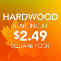 Hardwood Flooring starting at $2.49 sq.ft. during our National Flooring Extravaganza Sale at Downtown Hardware & Flooring in Monroeville, AL