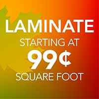 Laminate Flooring starting at 99 Cents sq.ft. during our National Flooring Extravaganza Sale at Downtown Hardware & Flooring in Monroeville, AL