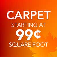 Save on Carpet starting at 99 Cents sq.ft. during our National Flooring Extravaganza Sale at Downtown Hardware & Flooring in Monroeville, AL