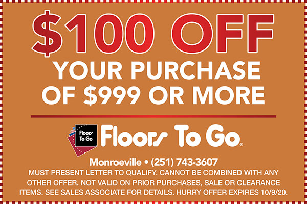 Fall Home Makeover Sale Coupon at Monroeville Floors To Go