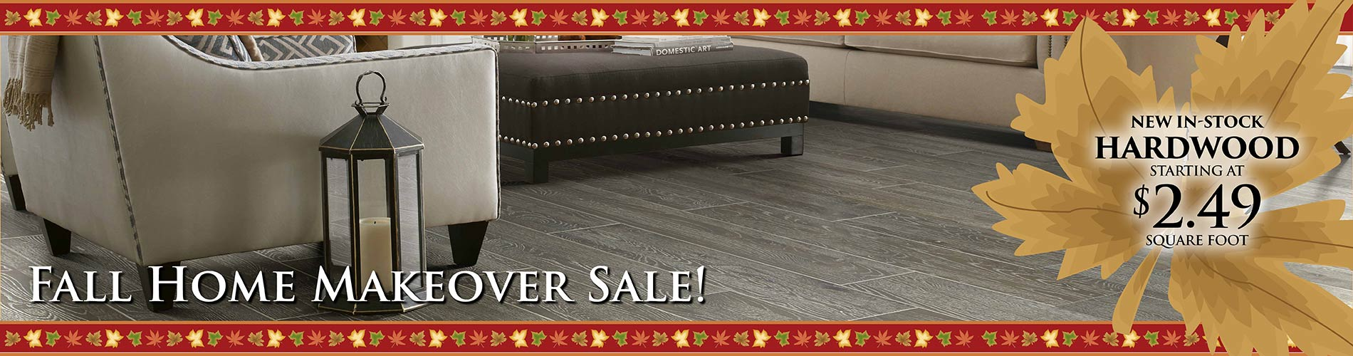 Hardwood flooring Fall Home Makeover Sale at Monroeville AL Floors To Go