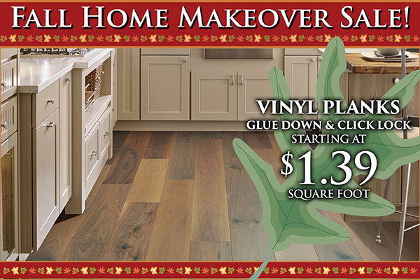 Vinyl Plank Fall Home Makeover Sale at Monroeville Floors To Go