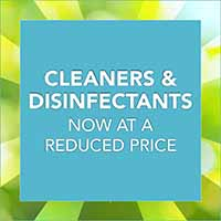 Cleaners and disinfectants on sale now at reduced price during our National Flooring Extravaganza Sale