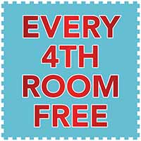 For every 4th room of flooring you purchase from us, get the smaller room free. Now during our National Flooring Extravaganza Sale